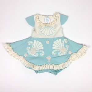 Lemon Loves Layette Mermaid Shell Dress 6-12 Month